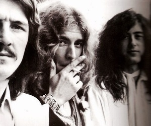 led zeppelin, robert plant, and jimmy page image