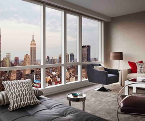 new york, apartment, and city image