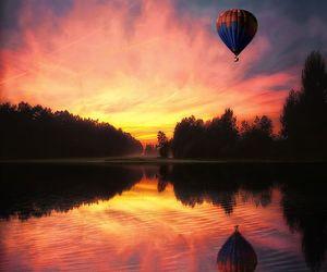 digital art, hot air balloon, and photography image