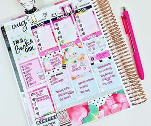 agenda, college, and girly image