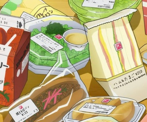 anime, food, and cute image