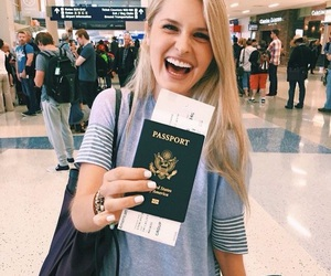travel, airport, and passport image