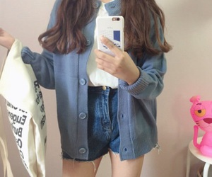 aesthetic, american apparel, and blue image
