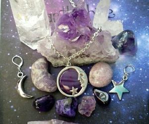 crystal, moon, and stars image