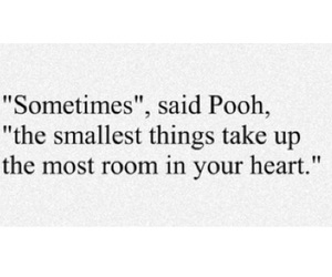 quote, pooh, and heart image