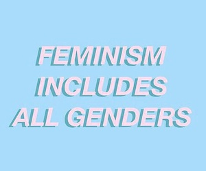 feminism, quotes, and blue image