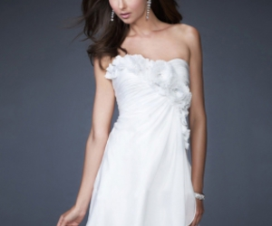 white dresses and evening dresses 2012 image