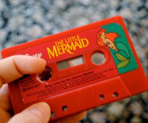 mermaid, disney, and red image