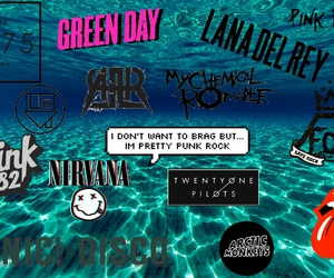 bands, blink-182, and green day image