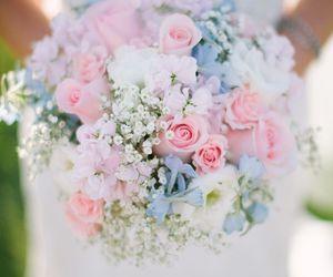 flowers, wedding, and pastel image