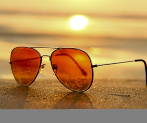 beach and sunglasses image