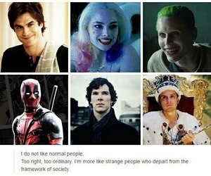 sherlock, the vampire diaries, and suicide squad image