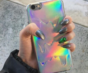 nails, iphone, and case image