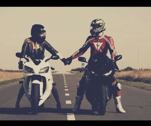 love, couple, and motos image