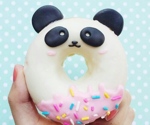 donuts, panda, and food image
