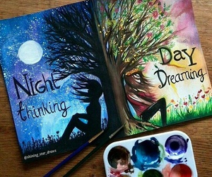 night, art, and day image