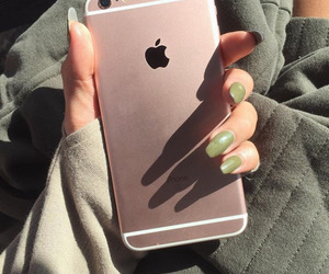 green, iphone, and nails image