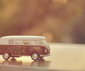 car, peace, and hippie image