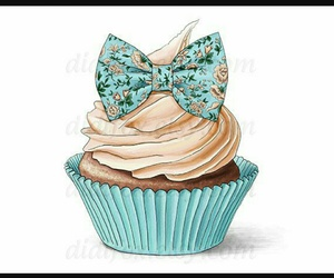 cupcake, art, and blue image