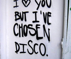 love, disco, and heart image