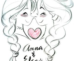 anna, disney, and elsa image