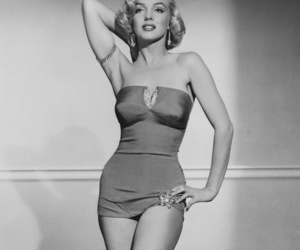 actress, black and white, and girl image