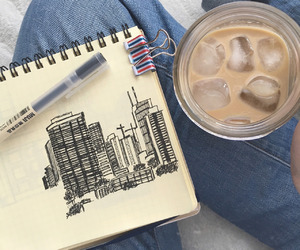 art, tumblr, and coffee image