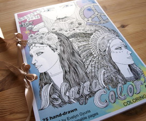 coloring book, festivals, and adult coloring book image