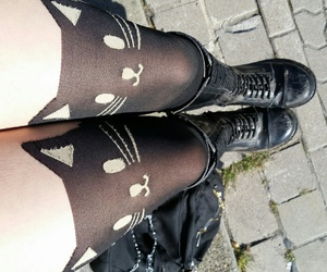 boots, neko, and outside image