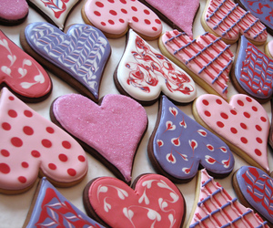 Cookies, heart, and hearts image