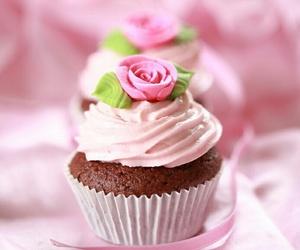 cupcake, flor, and lindo image