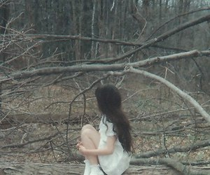 girl, aesthetic, and forest image