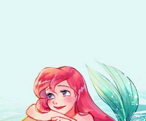 disney, ariel, and mermaid image