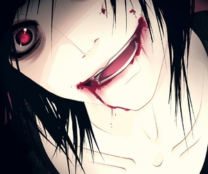 jeff the killer, anime, and blood image