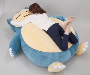 snorlax, cushion, and giant image