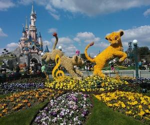 castle, lions, and disney image