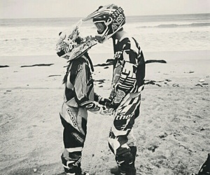 beach, motocross, and love image