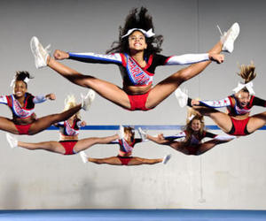 cheerleader, girls, and jump image