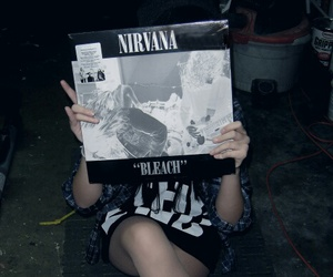 nirvana, grunge, and bleach image
