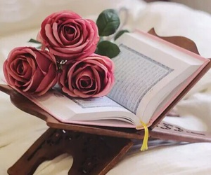 quran and roses image