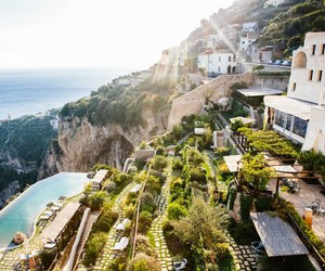 cliff, luxury, and hotel image