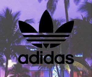 adidas, wallpaper, and palm trees image