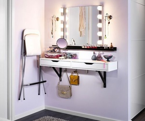 dressing table, bedroom, and ideas image