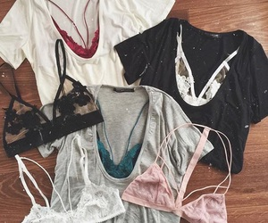 clothes, fashion, and bralettes image
