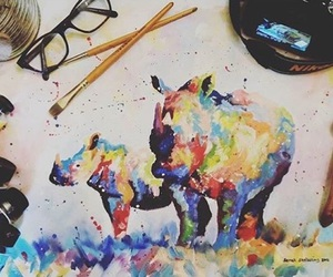 art, creative, and paint image