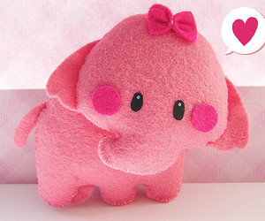 pink, cute, and elephant image