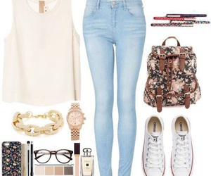 beuty, fashion, and back to school image