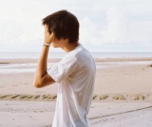 boy, beach, and guy image