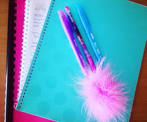 college, colors, and feather image