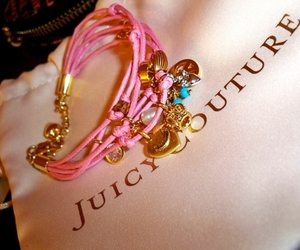 juicy couture, pink, and bracelet image